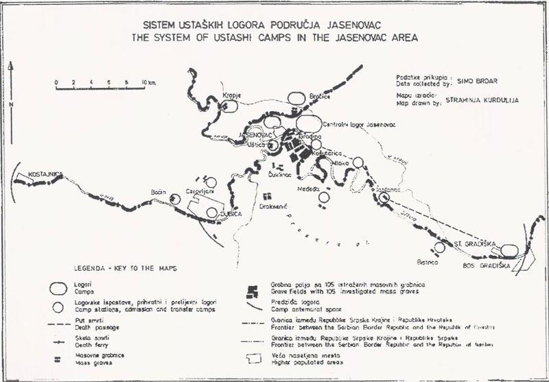 jasenovac mapa Research in Donja Gradina | Donja Gradina Memorial jasenovac mapa